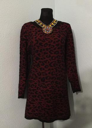 Свитер кофта туника платье вязаное tu  размер 16 наш 50-52 цена 150грн.
