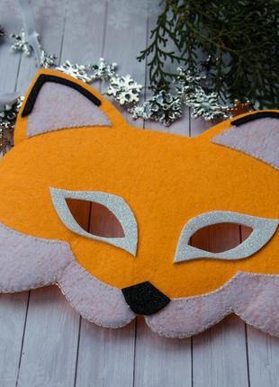 Маска. карнавальная маска. детская маска. карнавальный костюм лиса, лисичка