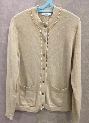 Кашемировый кардиган свитер бренда m&s, кашемир 100 %. размер м.