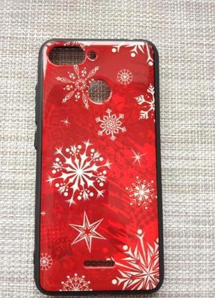 Чехол-накладка новогодний зимний дизайн на xiaomi redmi 6