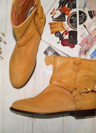 (40/26см) reseved. кожа. стильные фирменные ботинки на низком ходу