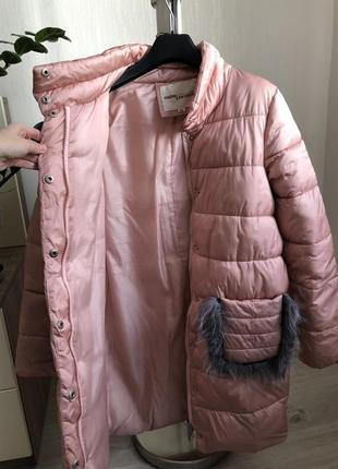 Пуховичок зимняя куртка -пальто