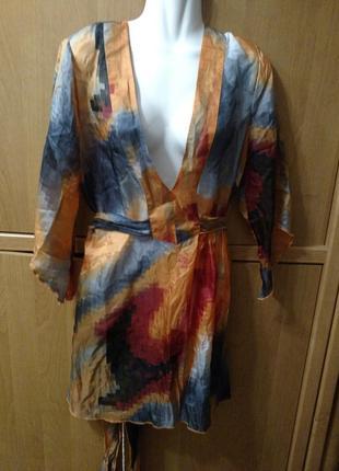 Блуза туника шелк италия
