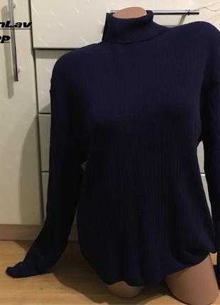 Новый тонкий гольф свитер в рубчик батал 56-58