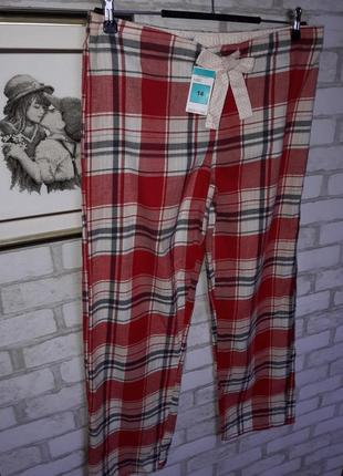 🎀🎀качественные пижамные штаны в клетку m&s р 14 сток