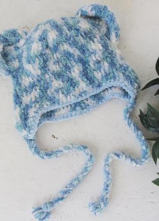 Зимова шапочка для хлопчика на 2 роки