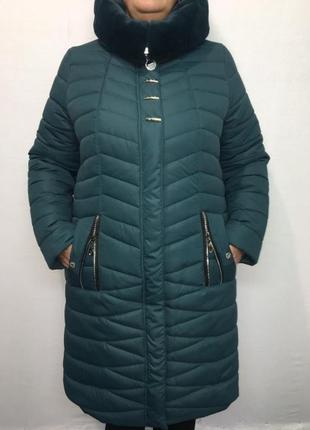 Очень красивая стильная зимняя куртка,пальто ..52-58..
