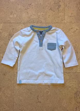 Новый реглан футболка  на мальчика с длинным  рукавом тм kiabi 12-36 месяцев