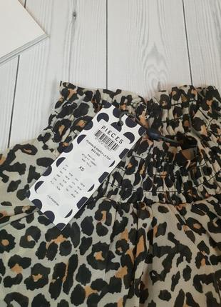 Блуза леопард энимал принт нарядная вечерняя новый год шифон3