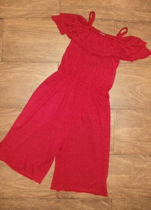 Стильное нарядное платье- ромпер  на 5 лет