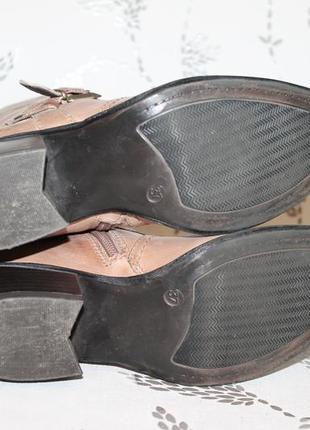Кожаные итальянские полусапожки venturini 37 размер 24 см стелька4