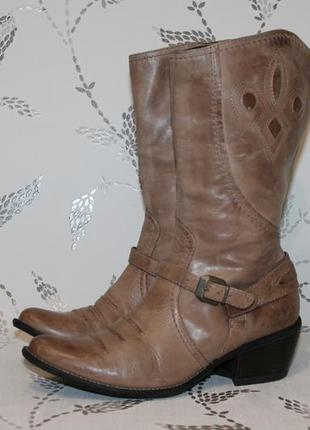 Кожаные итальянские полусапожки venturini 37 размер 24 см стелька1