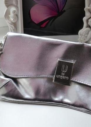 Серебряный сумка клатч u by ungaro avon серебро серебристый металик
