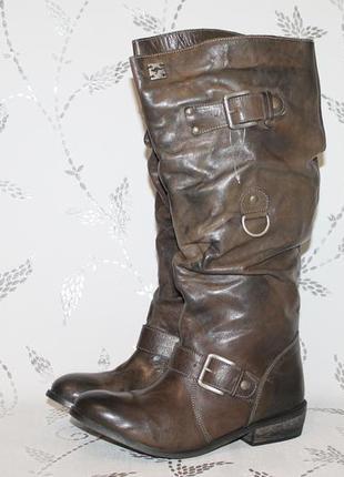 Распродажа!новые кожаные сапоги kangaroos 38 размер 24,5 см стелька