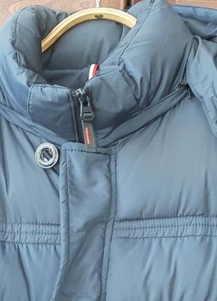 Куртка синяя зима мужская турция теплая 56р пог 65см длина 90см рост до 185см