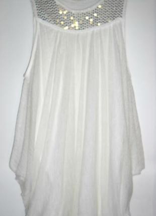 Летнее платье с пайетками