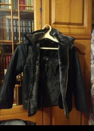 Дубленка куртка зимняя на мальчика