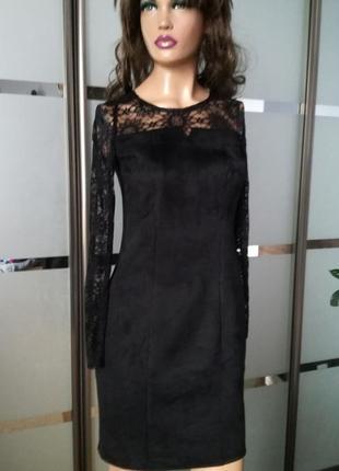 Элегантное замшевое платье/замшеве плаття
