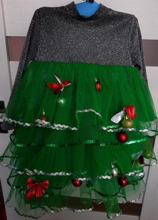 Шикарный новогодний костюм елка ,елочка, платье ёлочка, ялинка 2-5 лет.