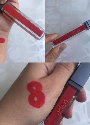 Матовая губная помада аден aden италия оригинал оттенок номер 8 marylin red