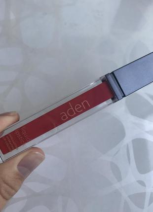 Матовая губная помада аден aden италия оригинал оттенок номер 8 marylin red3 фото