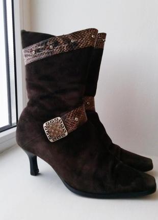 Зимние замшевые сапоги, ботинки