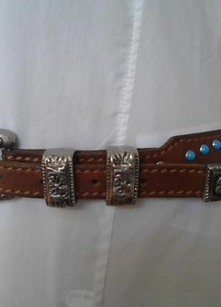 Роскошный винтажный кожаный ремень, люкс бренд, италия