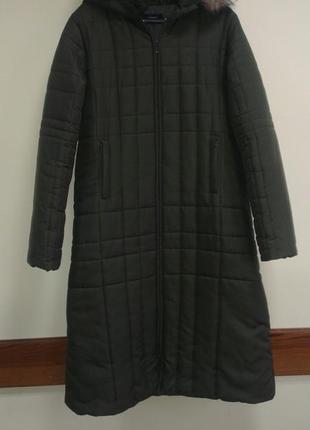 Дутое пальто с отделкой искусственным мехом vero moda, xl