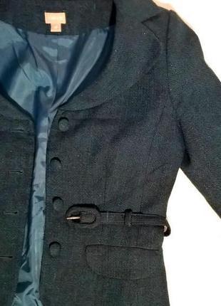 Элегантный жакет пиджак с поясом акрил/шерсть4