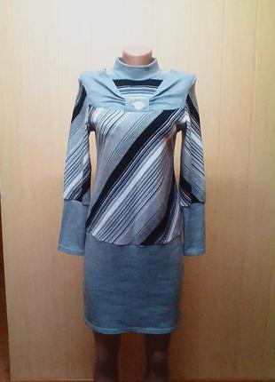 Теплое платье,плаття,сукня,туника,44-46р,бренд-olsen.