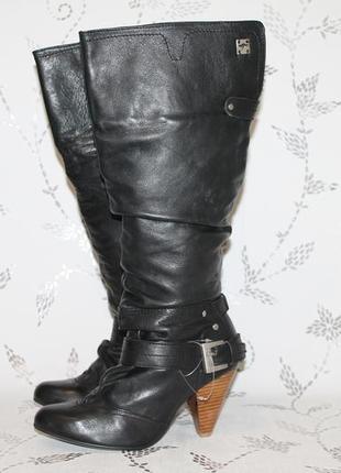 Кожаные сапоги kangaroos 38 размер 24,5 см стелька