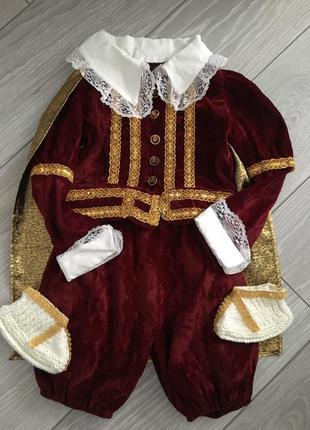 Новогодний костюм принца,короля размер 1,6-2,5