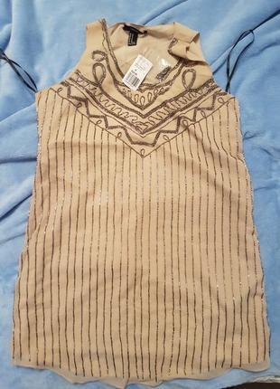 Нарядное мини платье forever21