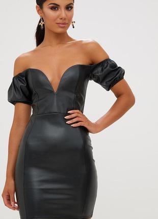 Платье эко-кожа