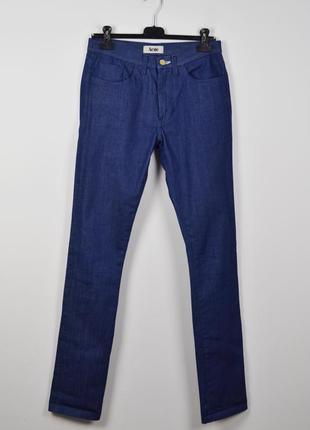 Acne джинсы 31 34 синие slim индиго мужские зауженные skinny акне