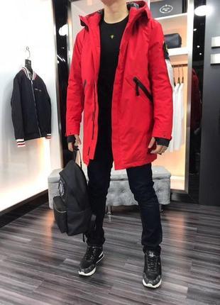 Мужская зимняя куртка, парка stone island, l, xl, xxl