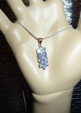 Ожерелье с натуральными танзанитами
