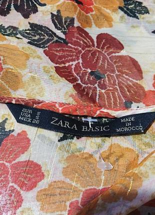 Блуза на шнуровке zara3 фото