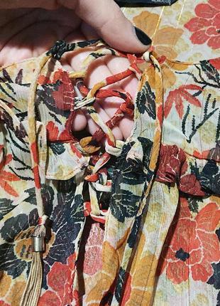 Блуза на шнуровке zara5 фото