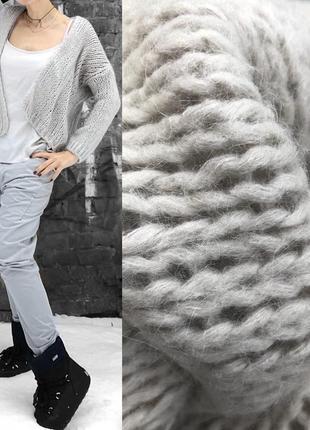 Кардиган/свитер/вязаный кардиган/мохер/скидка -50%