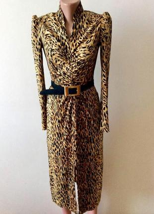 Эксклюзивное фирменное  платье леопардовый принт.