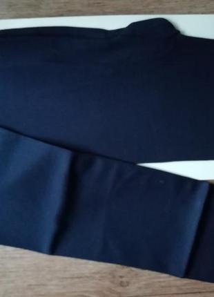 Плотные матовые колготки из микрофибры темно синие 100 den