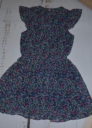 Шифоновое платье с трикотажной подкладкой m&s на 11-12 лет