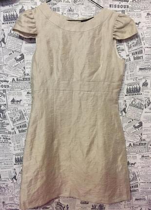 Нарядное льняное платье от next