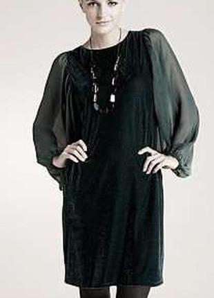 Бархатное чёрное платье next