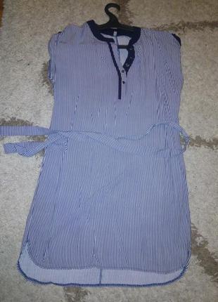 Платье,рубашка,полоска,штапель