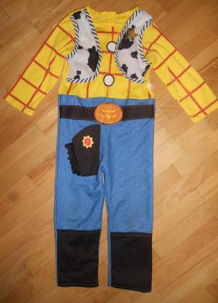 Детский карнавальный костюм шериф вуди на 3-4  года