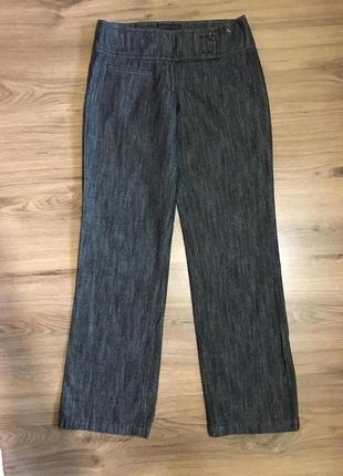 Широкие джинсовые брюки,коттон+лён!