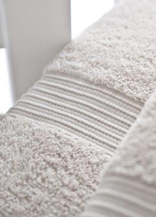 Качественное новое банное бежевое махровое полотенце english home, 70×140,100% коттон