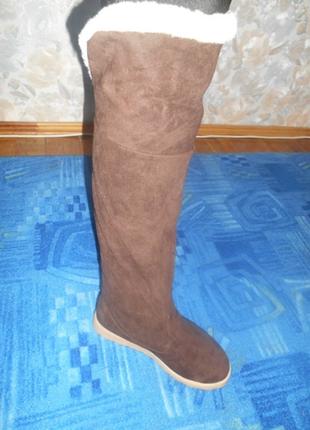Зимние сапоги ботфорты